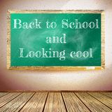 Back to school poster with chalkboard. EPS10 Stock Images