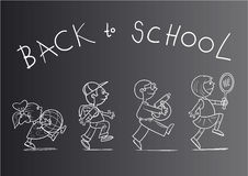 Back to school poster Royalty Free Stock Photo