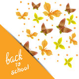 Back to school poster design. Royalty Free Stock Images