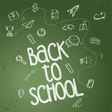 Back to school poster Royalty Free Stock Photography