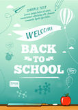 Back to school poster, education background Stock Image