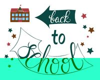 Back to school poster for education needs royalty free illustration