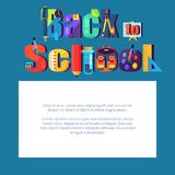 Back to School Poster with Place for Text in Frame Stock Photography
