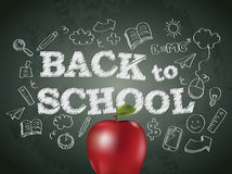 Back to school poster Stock Photo
