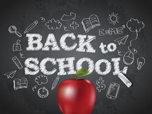 Back to school poster with text Royalty Free Stock Photo