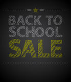 Back to school poster with text on chalkboard Stock Photo