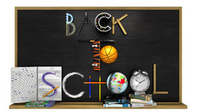Back to school poster with text Stock Photos