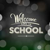 Back to school poster with text on chalkboard Royalty Free Stock Photo