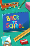 Back to School Poster stock image