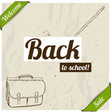 Back to school poster. Royalty Free Stock Photography