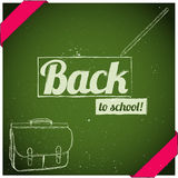 Back to school poster. Stock Images