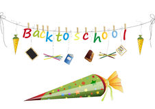 Back to school. Present for first School day Royalty Free Stock Image