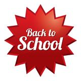 Back to school price tag. Sticker with texture. Stock Image