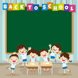 Back to school with pupil Stock Images