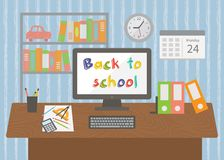 Back to school. Pupil room interior. Stock Photos