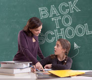 Back to school, pupil and teacher Stock Photography