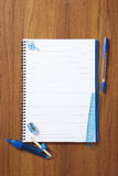 Back to School pupils note pad and stationary Royalty Free Stock Photos
