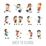 Back to school , pupils in school uniform Stock Photo