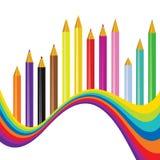 Back to school rainbow background Stock Image
