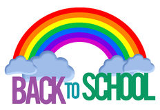 Back To School Rainbow Royalty Free Stock Photos
