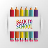 Back to school. Rainbow pencils. Vector illustration Royalty Free Stock Photography