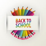 Back to school. Rainbow pencils. Vector illustration Royalty Free Stock Photos