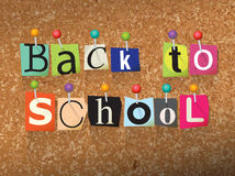 Back to School Ransom Note Illustration Royalty Free Stock Photos