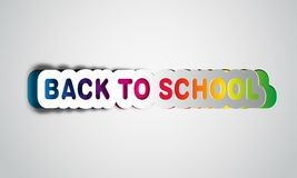 Back to school, realistic papercut, takes the background color Royalty Free Stock Image