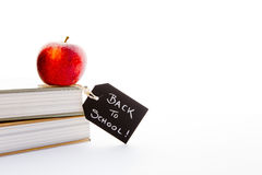 Back to School - Red Apple and books Royalty Free Stock Photography