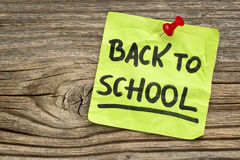 Back to school reminder Stock Image