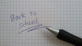 Back to school. A reminder. It is time to go back to school. Time for school again. School starts soon. Back to school royalty free stock image