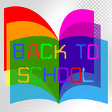 Back To School Represents Educate Educated And Train Stock Photography
