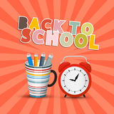 Back to School Retro Background Stock Image
