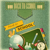 Back to School Retro Card Royalty Free Stock Photo