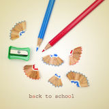 Back to school, with a retro effect Royalty Free Stock Photos