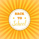 Back to school retro round sticker Stock Photo