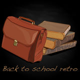 Back to school retro vector Royalty Free Stock Images