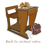 Back to school retro vector Stock Image
