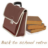 Back to school retro vector Stock Photo