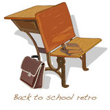 Back to school retro vector Royalty Free Stock Photography