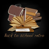 Back to school retro vector Stock Photos