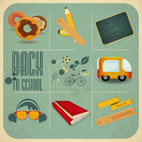 Back to School Retro Vintage Card Royalty Free Stock Photo