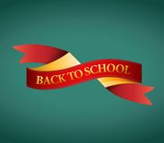 Back to school ribbon illustration design Stock Photos
