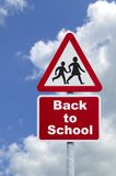 Back to school road sign Royalty Free Stock Photo