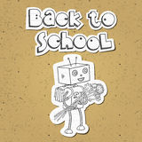 Back to school robot 01 Royalty Free Stock Image