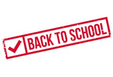 Back To School rubber stamp Royalty Free Stock Image