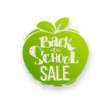 Back to school sale on apple shape Stock Photography