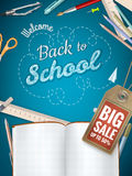 Back to School sale background. EPS 10 Royalty Free Stock Photography