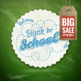 Back to School sale background. EPS 10 Royalty Free Stock Photos