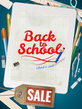 Back to School sale background. EPS 10. Vector file included Royalty Free Stock Image